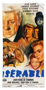 Les Miserables 1958 French Movie Classic Beach Towel