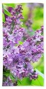 Lilac Flowers Beach Towel