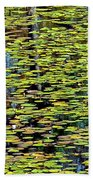 Lilly Pond Painting Beach Towel