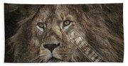 Lion Safari Beach Sheet