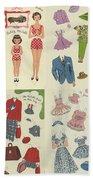 Little Golden Book Paper Doll Sees America Beach Towel
