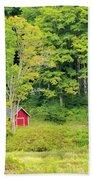 Little Red House Beach Towel