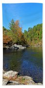 Little River From Little River Gorge Road At Townsend Entrance Beach Towel