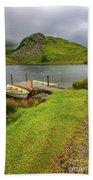 Llyn Y Dywarchen Boats Snowdonia Beach Towel