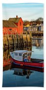Lobster Traps, Lobster Boats, And Motif #1 Beach Towel by Jeff Sinon