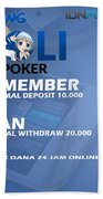 Lolipoker Situs Poker Online Bank Bca 24 Jam Indonesia Beach Towel