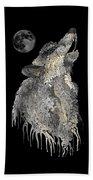 Lone Wolf Beach Towel by Mark Taylor