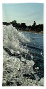 Look Into The Wave Beach Towel