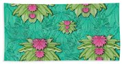 Lotus Bloom In The Sacred Soft Warm Sea Beach Towel