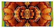 Love For The Fantasy Flowers With Happy Joy Beach Towel