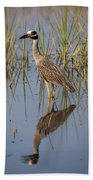 Lowcountry Heron Beach Towel by Donnie Whitaker