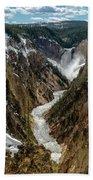 Lower Falls In Yellowstone Beach Towel by Scott Read