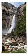Lower Yosemite Fall Beach Towel