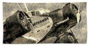 Lufthansa Junkers Ju 52 Vintage Beach Towel