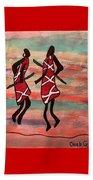 Maasai Dancers Beach Towel