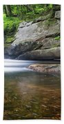 Mad River Falls Beach Towel by Nathan Bush