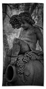 Magnolia Child Statue Beach Sheet