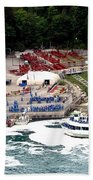 Maid Of The Mist Tour Boat At Niagara Falls Beach Towel by Rose Santuci-Sofranko
