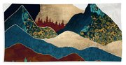 Malachite Mountains Beach Towel