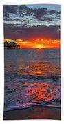 Malibu Pier Sunrise Beach Towel