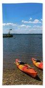 Mallows Bay And Kayaks Beach Towel