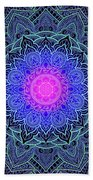 Mandala Love Beach Sheet