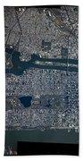 Manhattan - 2012 From Space Beach Towel by Celestial Images