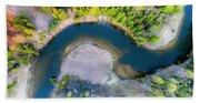 Manistee River Curve Aerial Beach Sheet