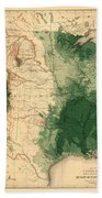 Map Of American Forests 1883 Beach Towel