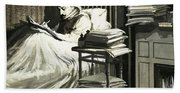 Marcel Proust Sat In Bed Writing Remembrance Of Things Past Beach Towel