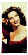 Maria Felix, Vintage Actress Beach Towel