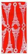 Match Made In Paris Beach Towel