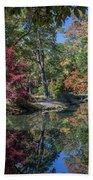 Maymont Japanese Garden Pond Beach Towel by Jemmy Archer