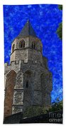 Medieval Bell Tower 4 Beach Sheet