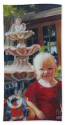 Melody By The Fountain Beach Towel