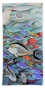Memory Of The Coral Reef Beach Towel