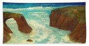 Mendocino Waves Beach Towel