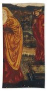 Merlin And Nimue 1861 Beach Towel