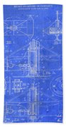 Merry Go Round Amusement Carousel Vintage Patent Blueprint Beach Towel