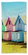 Mersea Island Beach Hut Oil Painting Look 7 Beach Towel