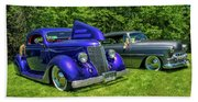 Mild Customs 1936 Ford And 1953 Chevy Beach Towel