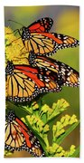 Monarch Gathering 2 Beach Towel