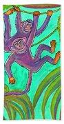 Monkeys On Creepers Beach Towel