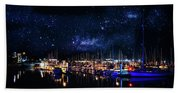 Monterey Bay At Night Beach Towel