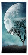 Moon Blues Beach Towel