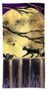 Moon Cats Beach Towel