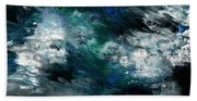 Moonlight Ocean- Abstract Art By Linda Woods Beach Towel