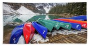 Moraine Lake Canoes Beach Sheet