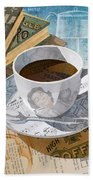Morning Coffee Beach Towel by Clint Hansen