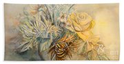 Mother's Day Flower Beach Towel